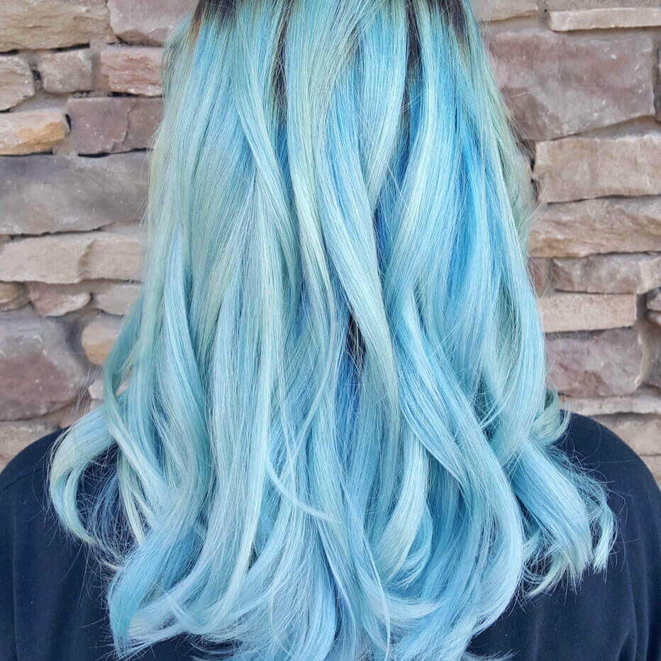 icing blue hair color