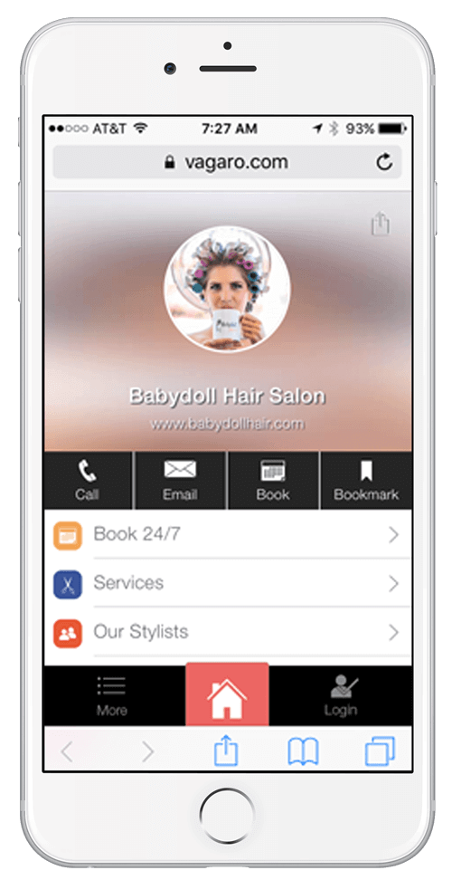 vagaro hair scheduling app for babydoll hair salon