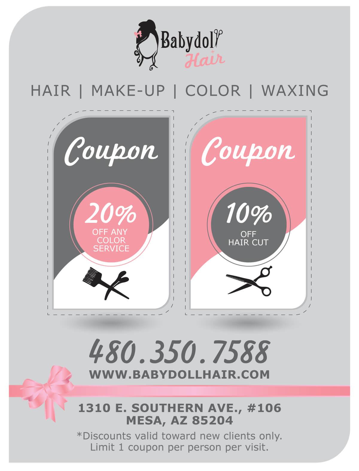 Special Offers Salon Discounts Mesa Az Babydoll Hair Salon