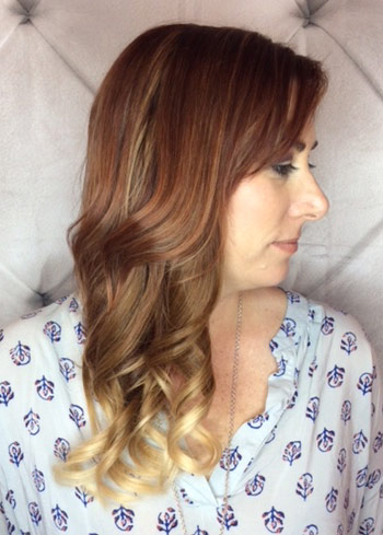 salon hair extensions side view